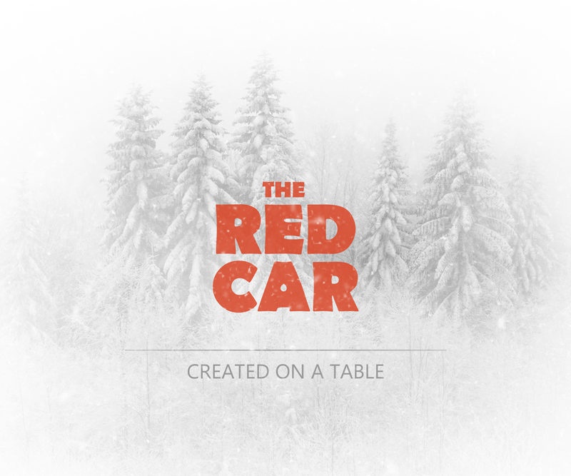 The red car
